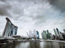 Région de Marina Bay à Singapour Photo stock