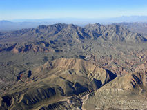 Région de montagne du Nevada Photos stock