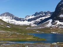 Région de montagne norvégienne Images stock