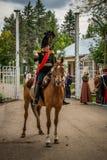 RÉGION DE MOSCOU - 6 SEPTEMBRE : Bataille historique de reconstitution de Borodino à son anniversaire 203 Image libre de droits