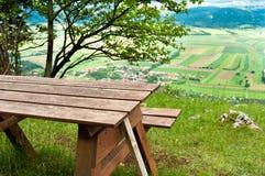Région de pique-nique en montagnes Images libres de droits