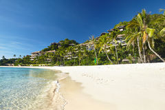 Région de plage et la station de vacances Images libres de droits