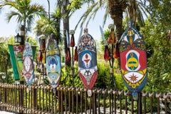 Région de Polynésie en parc d'attractions d'Aventura de port, Espagne Photos libres de droits