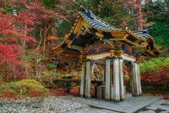 Région de purification au tombeau de Taiyuinbyo à Nikko, Japon photo libre de droits