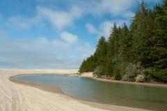 Région de récréation nationale de dunes de sable de l'Orégon photographie stock