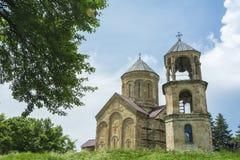 Région de Racha de cathédrale de Nikortsminda de la Géorgie image libre de droits
