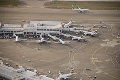 Région de rampe de compagnies aériennes de l'Alaska Photographie stock