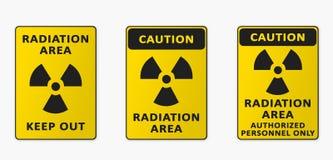 Région de rayonnement Ensemble de signes Image stock