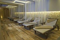 Région de relaxation d'une station thermale de luxe de santé Image libre de droits