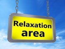 Région de relaxation sur le panneau d'affichage illustration stock