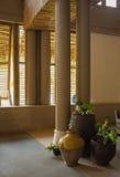 Région de salon dans le lobby de l'hôtel de tourisme des Caraïbes Photo libre de droits