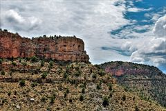 Région de région sauvage de canyon de la rivière Salt, réserve forestière de Tonto, Gila County, Arizona, Etats-Unis images libres de droits