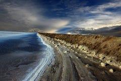 Région de sel dans Rann de Kutch image libre de droits