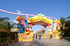 Région de Sesame Street au parc à thème gauche d'Aventura Photographie stock