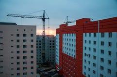 Région de site au coucher du soleil Photo libre de droits