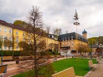 Région de station thermale au centre de la ville Janske Lazne, montagnes géantes - Krkonose, République Tchèque de montagne Images stock