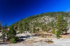 Région de traînée d'automne de queue de cheval, le lac Tahoe Images libres de droits