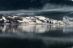 Région de Ybrig de lac Image stock