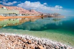 Région de Zohar d'hôtels de mer morte Image stock