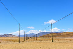 Région du Thibet Ali du poteau Photo stock