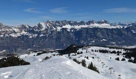 Région Flumserberg et Churfirsten de ski Images stock