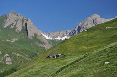 Région grande de St. Bernard, Alpes italiens, la vallée d'Aoste. Images stock