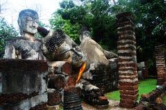 Région historique d'Aranyik de parc de Kamphaeng Phet, Bouddha de la Thaïlande Image libre de droits