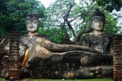 Région historique d'Aranyik de parc de Kamphaeng Phet, Bouddha de la Thaïlande Photo stock