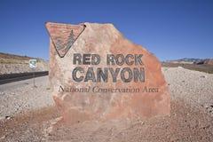 Région nationale d'économie de gorge rouge de roche Photos stock