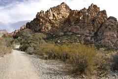 Région rouge de conservation de canyon de roche, Nevada, Etats-Unis Image libre de droits