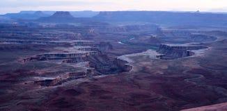 Région sauvage crépusculaire de la rivière Green Utah de bassin de Soda Springs images libres de droits