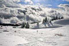 Région sauvage dans les nuages Images libres de droits