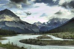 Région sauvage de montagne rocheuse Photographie stock libre de droits
