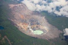 Région sauvage et volcan de Costa Rica Photos libres de droits