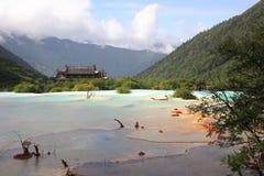 Région scénique de Huanglong Image libre de droits