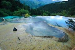 Région scénique de Huanglong Photographie stock libre de droits