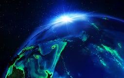 Région terrestre dans l'océan pacifique illustration libre de droits