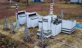région Ukraine de pouvoir de centrale nucléaire de monument de mémoire de Kiev de désastre de chernobyl images stock