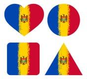 Réglé 4 drapeaux de Moldau illustration de vecteur
