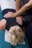 Réglage 01 de chiropraxie Image libre de droits