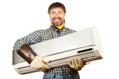 Réglage de climatisation photographie stock