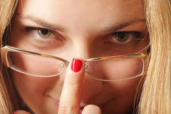 Réglage des lunettes Photo libre de droits