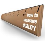 Régua - como medir o processo da melhoria de qualidade Imagens de Stock Royalty Free