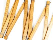 Régua da carpintaria no fundo branco Fotografia de Stock Royalty Free