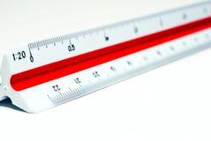 Régua da escala da redução imagem de stock