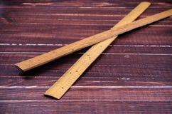 Régua de madeira retro Imagens de Stock