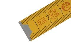 Régua do carpinteiro amarelo Foto de Stock