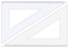 Régua do triângulo Fotos de Stock