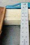 Régua do Woodworking Fotografia de Stock