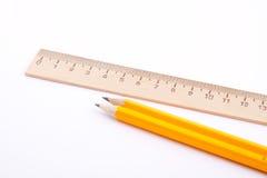 Régua e lápis Fotos de Stock